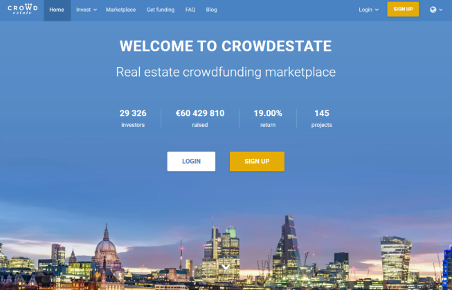 CrowdEstate Home Page