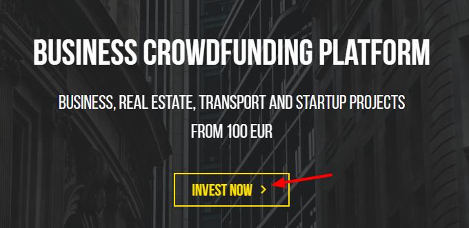 Crowdestor sign up 1st step
