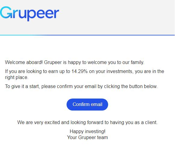 Grupeer Registration 3rd Step
