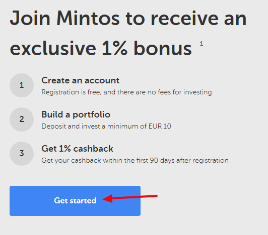 Mintos Sign-Up 1st Step