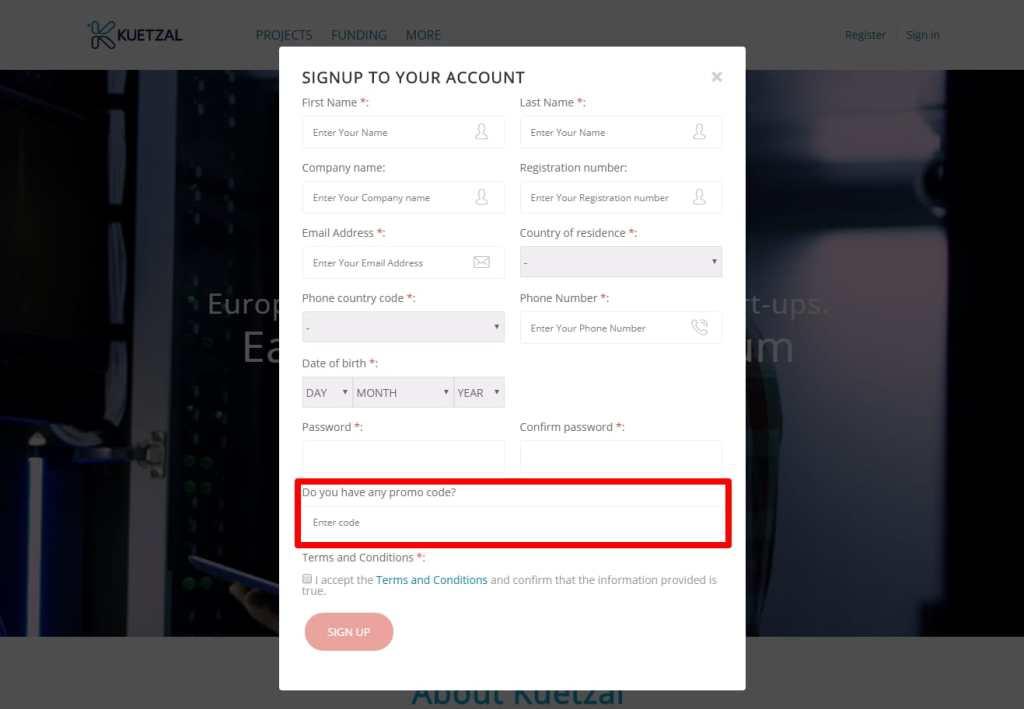 Kuetzal promo code referral